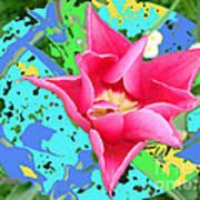 Fuchsia Tulip By M.l.d. Moerings 2012 Art Print