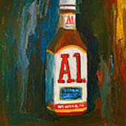 Full Flavored - A.1 Steak Sauce Art Print
