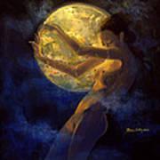 Full Moon Art Print by Dorina  Costras