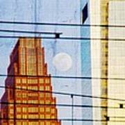 Full Moon In The City Art Print