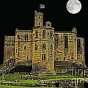 Full Moon Over Medieval Ruins Art Print