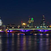 Full Moon Rise Behind St Pauls Art Print by Andrew Lalchan
