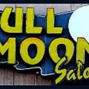 Full Moon Saloon Art Print