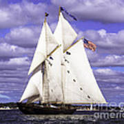Full Sails Ahead Art Print