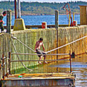 Fun At The Ferry Dock On Brier Island In Digby Neck-ns Art Print