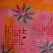 Fun Flowers In Pink And Orange 1 Art Print