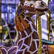 Fun Giraffe Carousel Ride Art Print