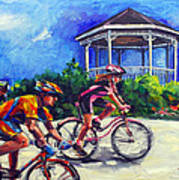 Fun Time In Bicycling Art Print