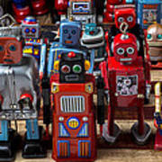 Fun Toy Robots Print by Garry Gay