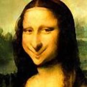 Fun With Mona Lisa Art Print