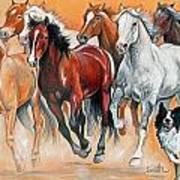 Fun With The Herd Art Print