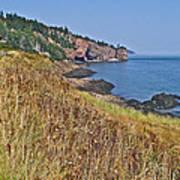 Fundy Bay Coastline Near Cliffs Of Cape D'or-ns Art Print