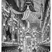 Funeral Dauphine, 1746 Art Print