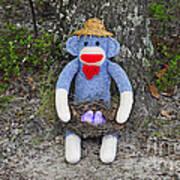 Funky Monkey - Purple Peeps Art Print