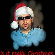 Funny Christmas Card Art Print