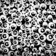 Funny Eyes Background Art Print