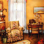 Furniture - Chair - Livingrom Retirement Art Print