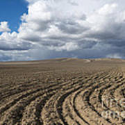 Furrows Before The Storm Art Print