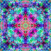 Fushia Rainbow Mandala Art Print