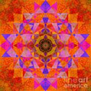 Fushia Yantra Diamond Mandala Art Print