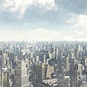 Future City Snow Art Print