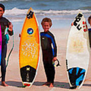Future Surfing Champs Art Print