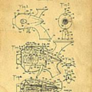 Futuristic Toy Gun Weapon Patent Art Print