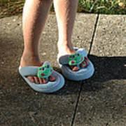 Fuzzy Slippers Art Print
