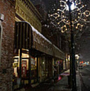 G Street Antique Store In The Snow Art Print