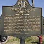 Ga-005-16 Provost Guard Campsite Art Print