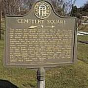 Ga-005-28 Cemetery Square Art Print