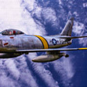 Gabby's F-86e Art Print