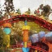 Gadget Go Coaster Disneyland Toontown Photo Art 02 Art Print