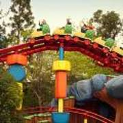 Gadget Go Coaster Disneyland Toontown Art Print