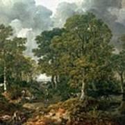 Gainsboroughs Forest Cornard Wood, C.1748 Oil On Canvas Art Print