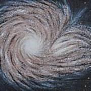Galactic Amazing Dance Art Print by Georgeta  Blanaru