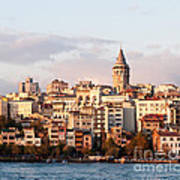 Galata Skyline 01 Art Print by Rick Piper Photography