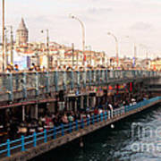 Galata Skyline And Bridge 02 Art Print