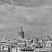 Galata Tower Mono Art Print