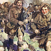 Gallant Piper Leading The Charge Art Print