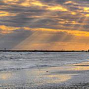 Galveston Rays Of Sunshine Art Print