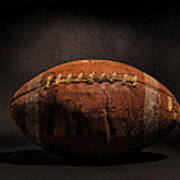 Game Ball Art Print by Peter Tellone