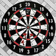 Game Of Darts Anyone? Art Print by Kaye Menner