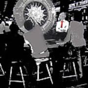 Gaming Tables Interior Binion's Horseshoe Casino Las Vegas Nevada 1979-2014 Art Print