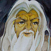 Gandalf Headstudy Art Print by Patricia Howitt