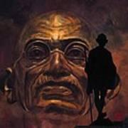 Gandhi - The Walk Art Print