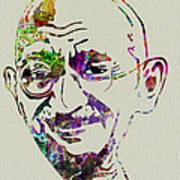 Gandhi Watercolor Art Print