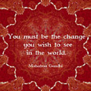 Gandhi Wisdom Saying About Action Art Print