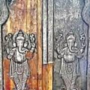 Ganesh Door Plating At The Yoga Maya Hindu Temple In New Delhi India Art Print