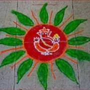 Ganesh Rangoli Art Print